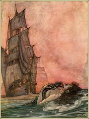 """William Heath Robinson """"We have fed our sea for a thousand years, and she calls us, still unfed"""" (1909) from """"A Song of the English by Rudyard Kipling"""""""