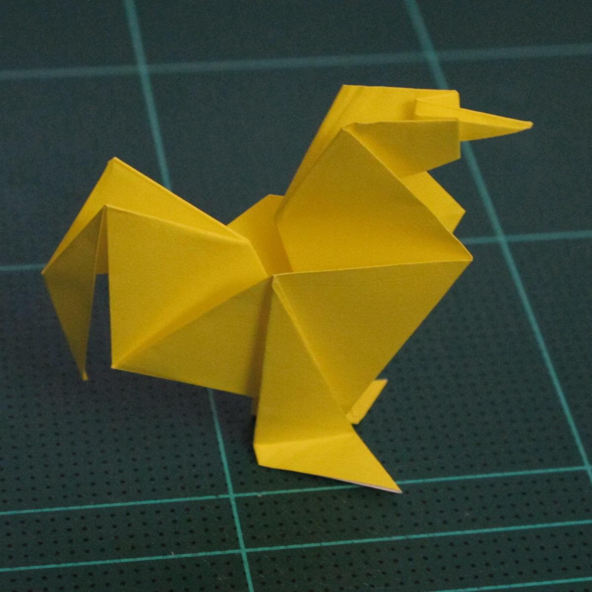 การพับกระดาษเป็นรูปไก่ (Origami Rooster) 010