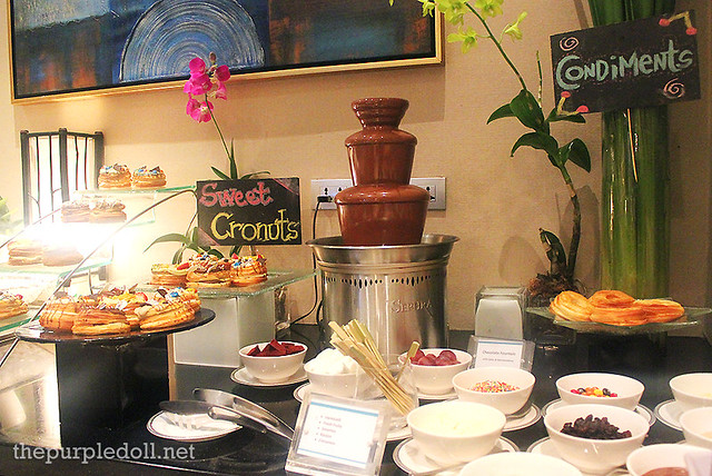 Chocolate Fondue, Sweet Cronuts, and Condiments