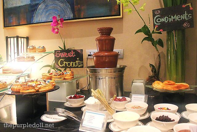 Chocolate Fondue, Sweet Cronuts, and Condiments