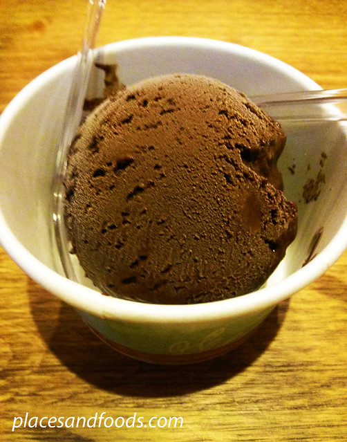 caffe bene sunway chocolate ice cream