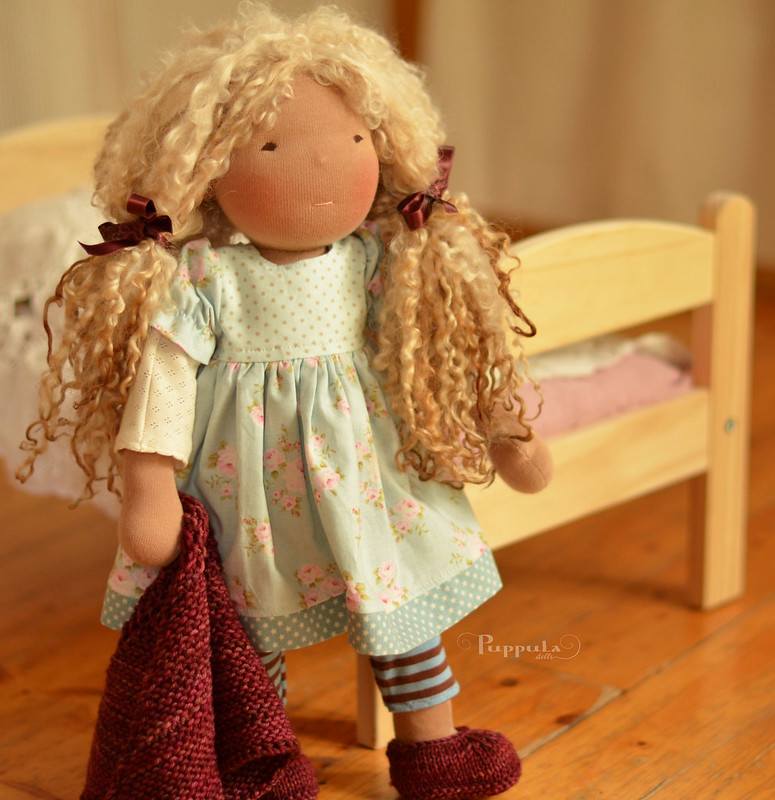 Teuta,  17/18 inch waldorf inspired doll with two outfits