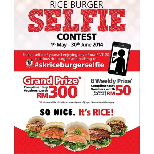 sushi king rice burgers promo selfie contest