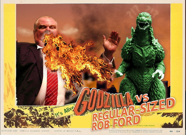 Godzilla Vs. Rob Ford