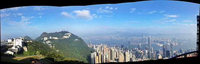view from an apartment in The Peak, Hong Kong (Kowloon)