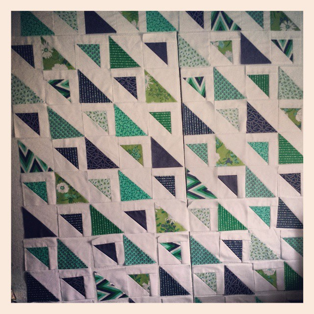 Freeing up my design wall and piecing this quilt top is my #ALYoF goal.  Here we go