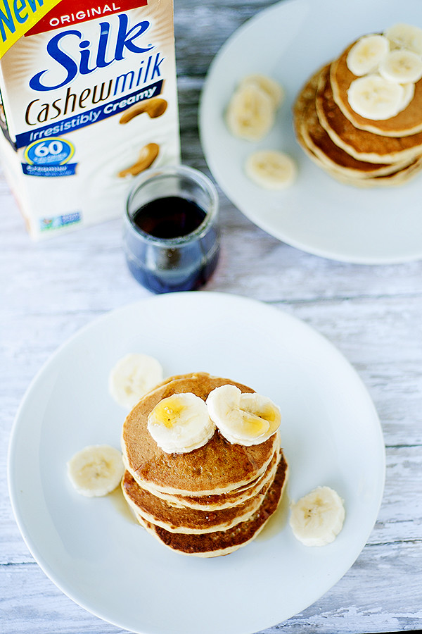 wheat free | dairy free banana nut pancakes #silkbloom @lovemysilk