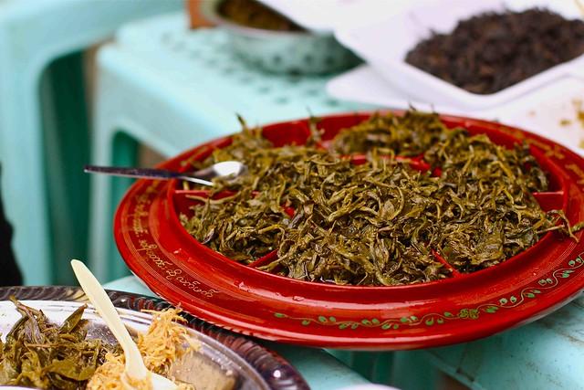 edible tea in Burma