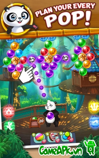 Panda Pop v3.4 hack full lives cho Android
