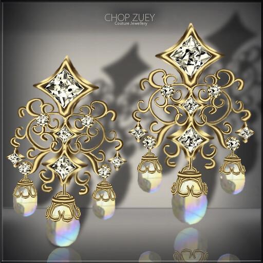 Love Tango EarringsGld-Pearl
