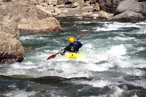Whitewater Kayaking on Vancouver Island, British Columbia, Canada.