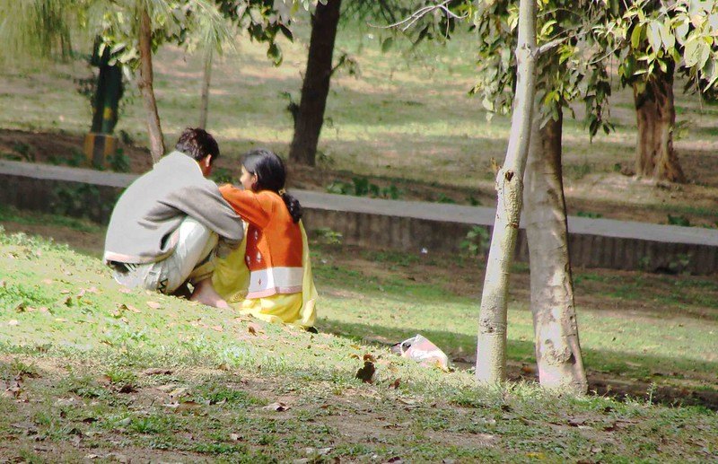 Image result for lovers in park in india
