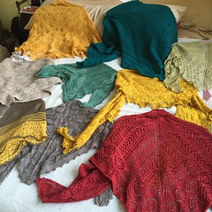 My shawl collection is growing!