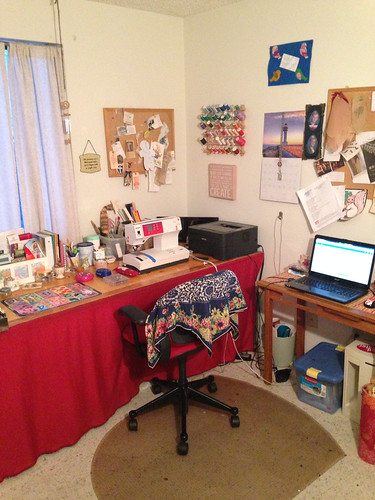 Cleaned up a bit, my sewing room