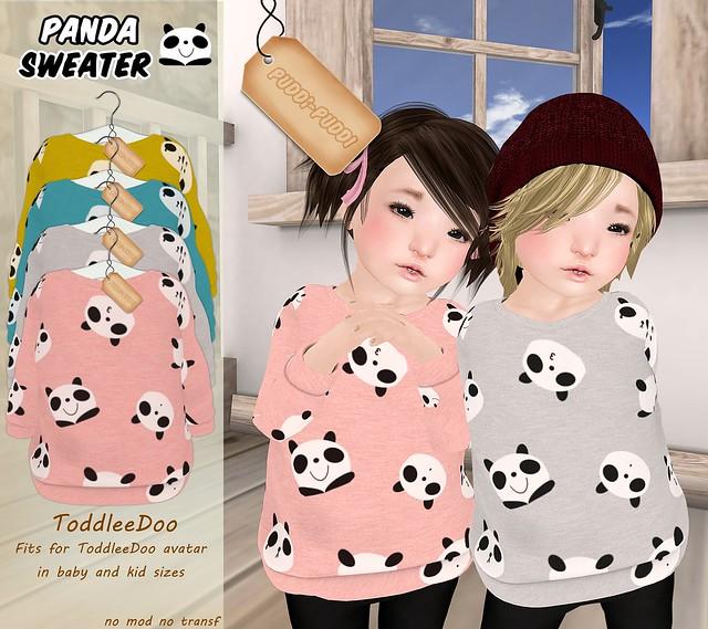 ::Puddi-Puddi:: ToddleeDoo Panda Sweater