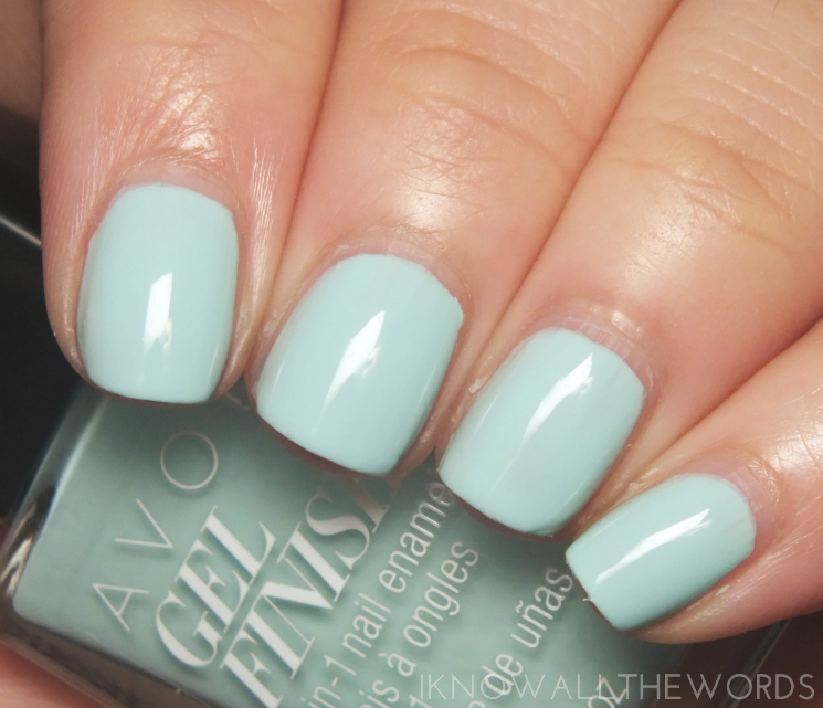 avon gel finish mint to be