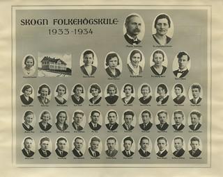 Skogn folkehøgskule 1933-1934