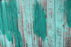 Green turquoise fence pattern