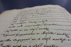 "A page of ornate handwriting in ink, with entries including ""Mr Wilde in one close northe"", ""Thomas Heryngeman in Okefielde northe"", and ""William Squyrrie in a close northe""."