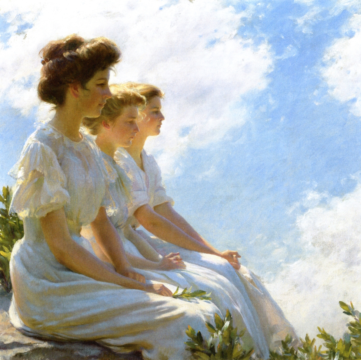 On the Heights by Charles Courtney Curran - 1909