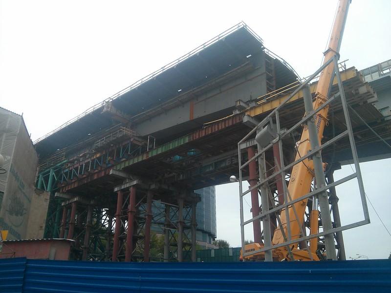 bridge under construction in Rostov