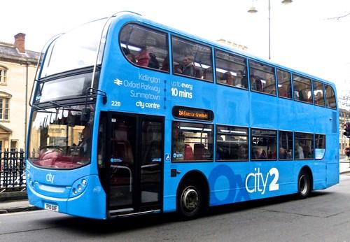 TF10 OXF 'Oxford Bus Company 228 Scania N230UD / ADL Enviro 400 on Dennis Basford's 'railsroadsrunways.blogspot.co.uk'