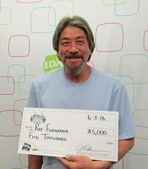 Ray Furukawa - $5,000 Lucky for Life