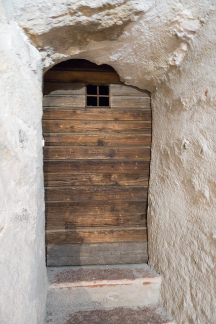 Photo:Door shaped to fit rock face By quinet