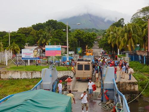 Aankomst Ometepe met ferry