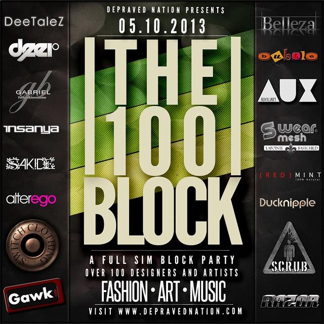100 Block 1x1 Flier Green Final