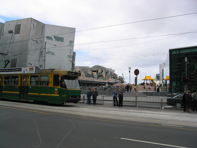 Federation Square tram stop (2003)