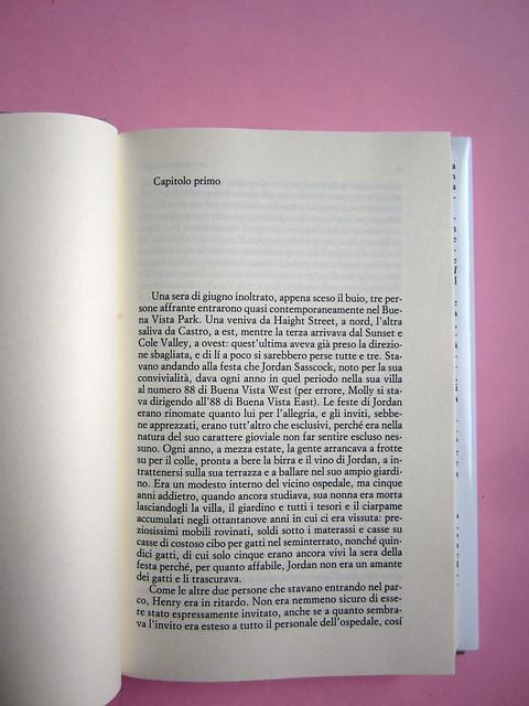 Chris Adrian, La grande notte. Einaudi 2013. [resp. gr. non indicate]; alla cop.: Sean Boggs/Vetta/Getty Images.Incipit (part.), 1