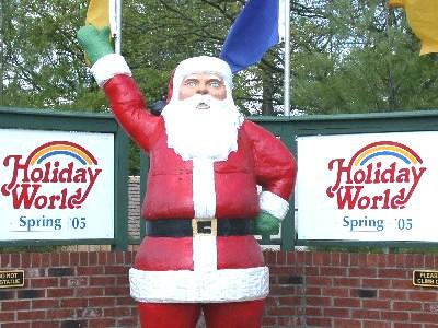 Santa statue in 2005