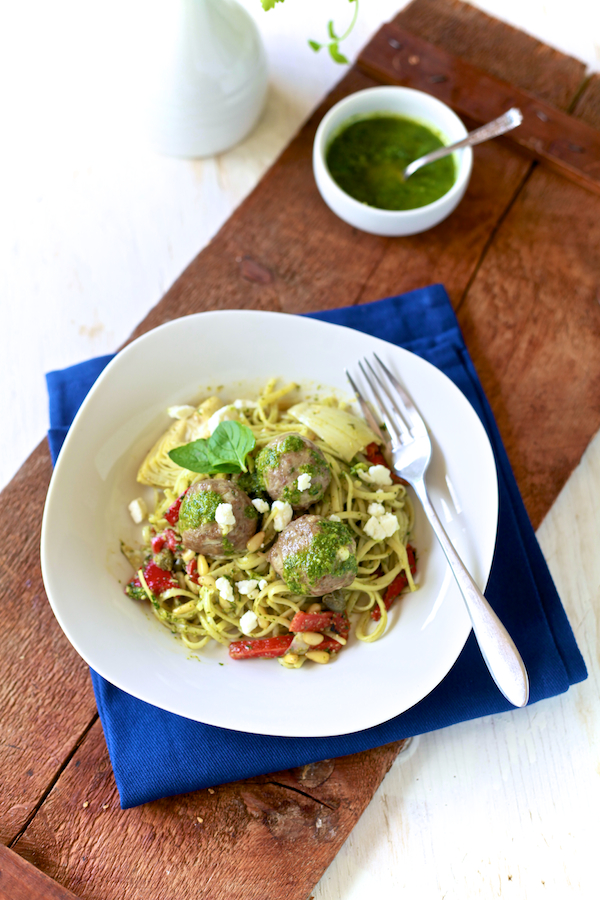 Lamb Meatball & Mint Pesto Pasta 49