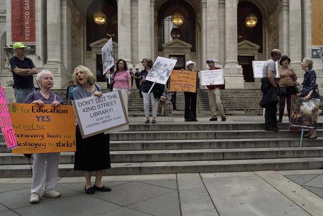 NY Public Library protest
