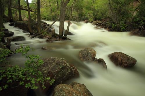 longexposure creek river spring colorado stream canyon boulder eldorado highwater runoff