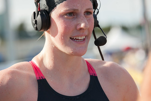 Missy Franklin after winning 200m backstroke