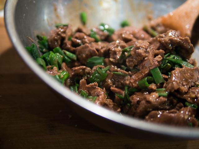 mongolian beef recipe, asian beef recipe, beef with green onions recipe, fried beef recipe