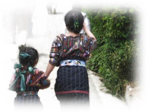walking girl in Guatemala