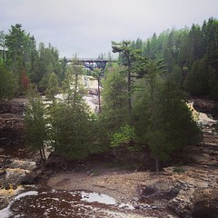 Gooseberry is so beautiful. So happy @missmariecolette and I stopped to explore for a bit. #hiking #northshore #gooseberryfalls