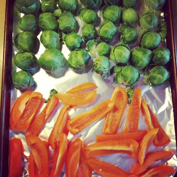 It's cool enough to roast vegetables again. Day: MADE!