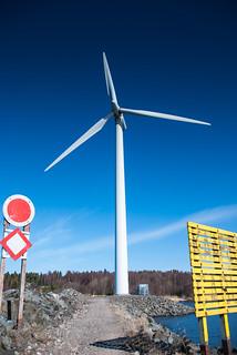 One of the wind turbines at Reposaari (Pori, Finland)