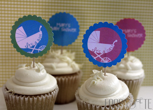 Royal baby shower cupcake toppers