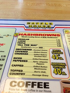 Waffle House Hash Brown Terminology