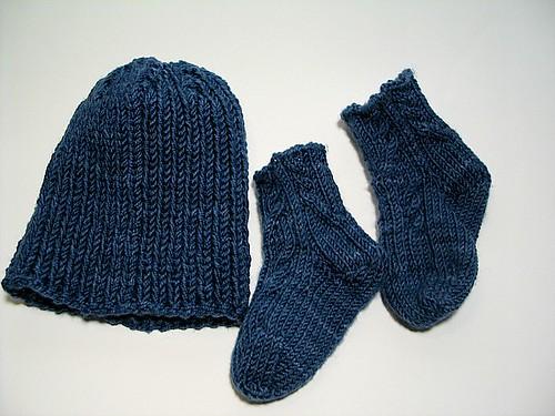 Blue Rib Baby Set