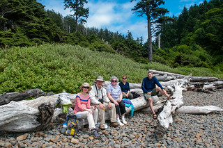 Family at Ecola Beach