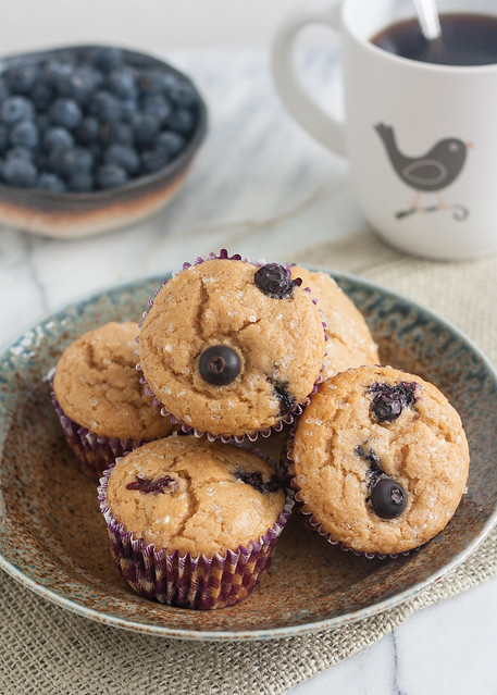 100% Whole Wheat Blueberry Muffins | Tracey's Culinary Adventures