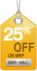 SALE tag 25off
