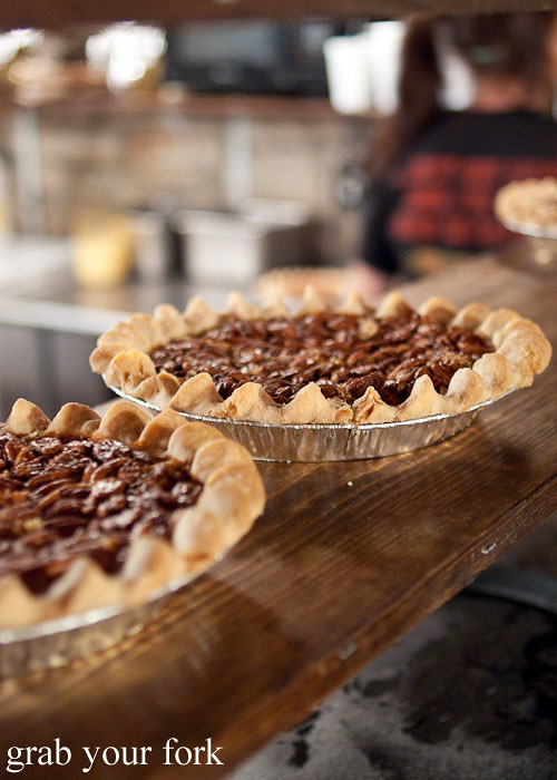 whole pecan pies at the salt lick bbq driftwood austin texas