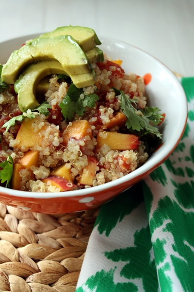 9556677181 e35c68f7a6 z Lunch Time: Peachy Lime Quinoa Salad